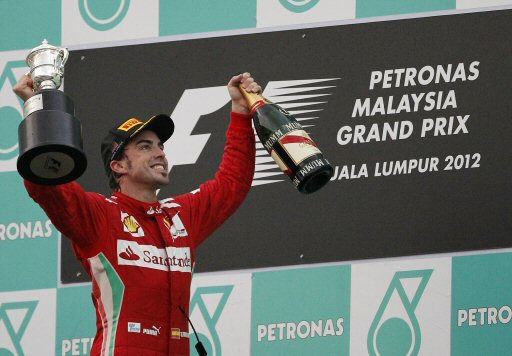 Ferrari Alonso at Malaysian Grand Prix 2012 - Image by JakartaPost
