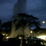 Massive 'fountain' as pipe burst in Petra Jaya