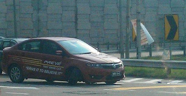 Proton Preve test drive spotted with arm broken