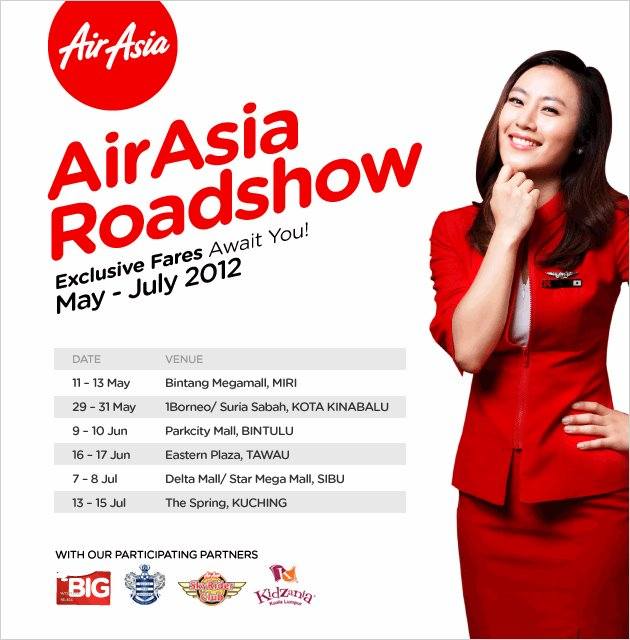 Air Asia road show in East Malaysia