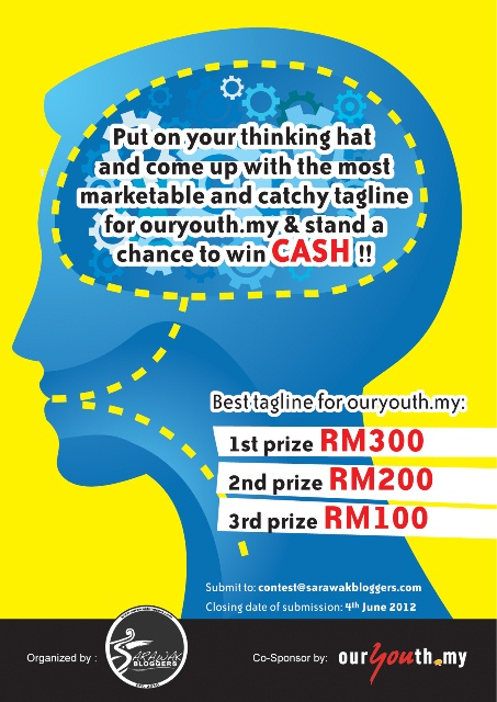 Win RM300 cash with a simple tagline