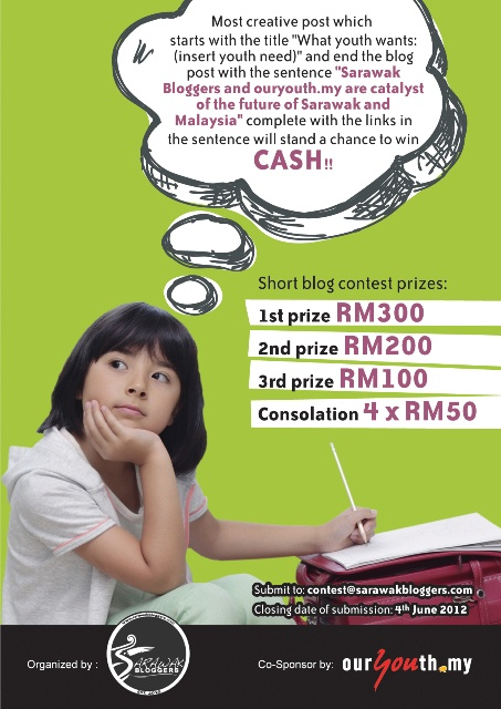 Up to RM800 cash for best short blogs!