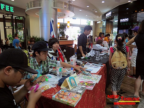 Merchandise booths filled Plaza Merdeka for the event. Bet they earned quite a bit.