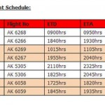 AirAsia new flights schedule