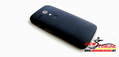 The matte back of Motorola G
