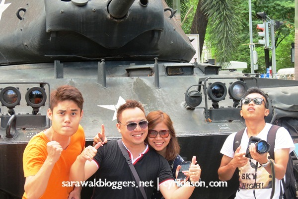 A photo in front of one of the many tanks. Spent almost half an hour just looking at the real war machines.