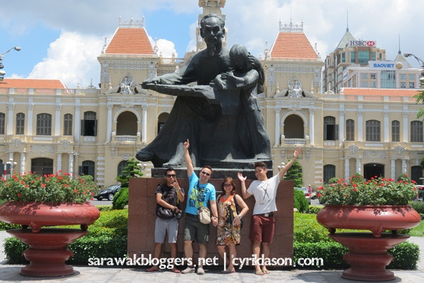 The TrippinASEAN14 party at Ho Chi Minh Square