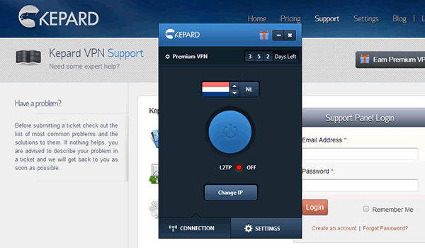 Server location in the Netherlands assures your torrent speed goes to the maximum with Kepard VPN
