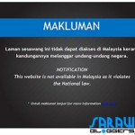 Is the Malaysian government telling you sites they block?