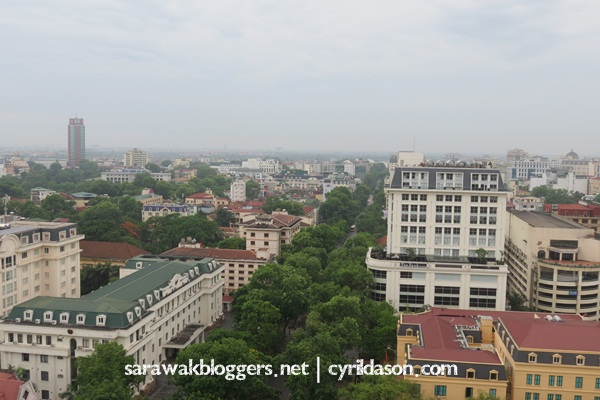View from the our hotel apartment - Grand Somerset Hanoi