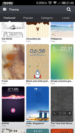 A large number of themes and customization makes the Miui system amazing.