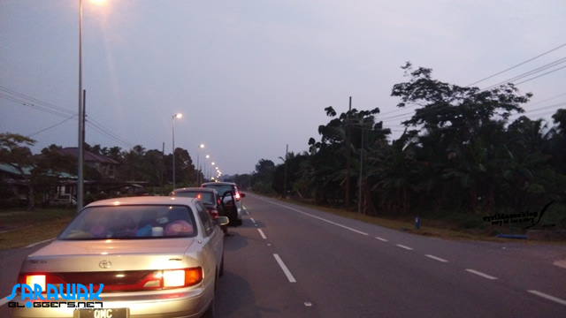 A 3KM traffic stall at Kuala Lurah check point from 6PM to 9PM.