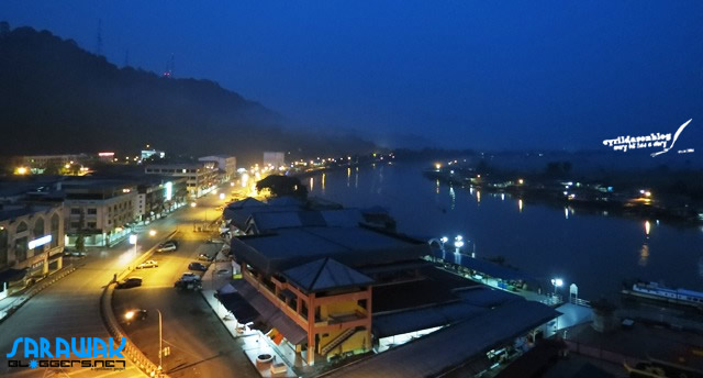 Limbang Town and Limbang River can be nicely viewed from Purnama Hotel