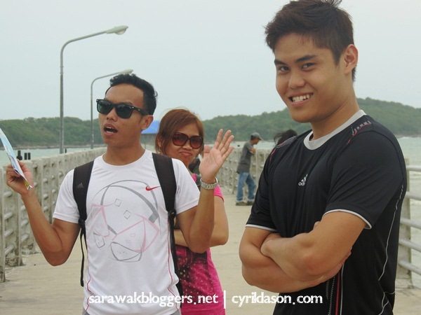 Photo taking by the gang at Rawai Phuket. Best to come here by bike.