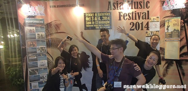 Free style of part of the Sarawak Bloggers at AsiaMF2014