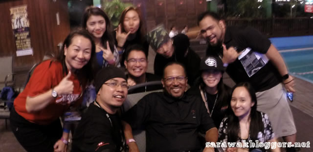 Sarawak Bloggers with the STB CEO, Dato Rashid Khan