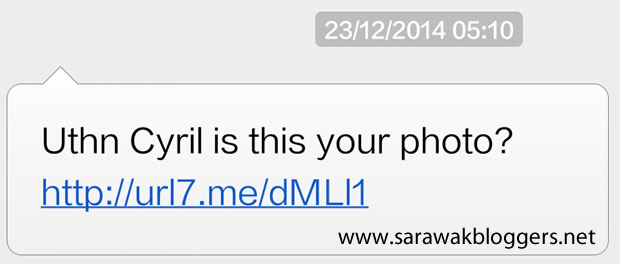 A sample of the said spam message which contains the malware link.