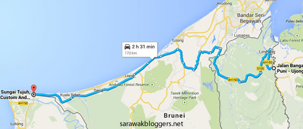 The fastest route through Brunei