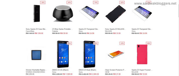 Prices of the Xperia Z3 differ, and I got to see which seller/online store offers the best price at one glance!
