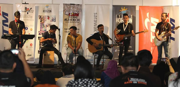 NAKAMA band performing live at the stage