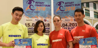 Models for the Rotary Club Kuching Central Run Launch 2017